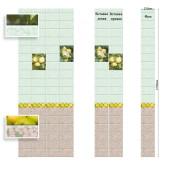 Стеновая панель ПВХ Век Яблоневый сад зеленый вставка 1 2700х250 мм