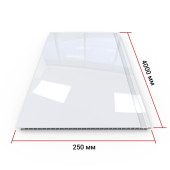 Панель ПВХ Кронапласт Белая глянцевая 4000х250х8 мм